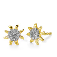 Clous d'oreilles Or jaune 750/18 ct. Ø8 mm-182541