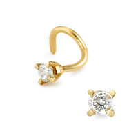 Clou de nez en or, diamant-346004