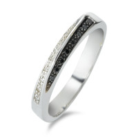 Bague or blanc 375 et diamants-348571