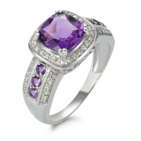 Ring 750 Amethyst + Diamanten-348574