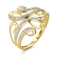 Fingerring 375/9 K Gelbgold Diamant -348580
