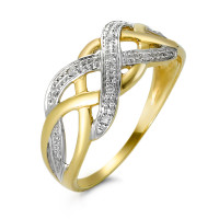 Bague or 375 et diamants-348581