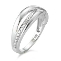 Bague 375 or blanc diamants-348648