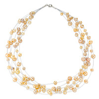 Collier 925 multirangs perles-352960