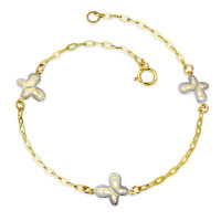 Armband Gold 375 bicolor-359070
