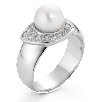 Bague Or blanc 750/18 ct.-520396