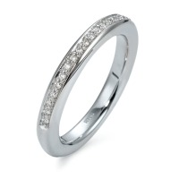 Memory Ring 750/18 K Weissgold Diamant 0.18 ct-534659
