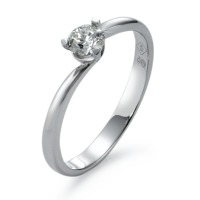 Bague solitaire Or blanc 750/18 ct. Diamant 0.27 ct-537218