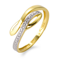 Fingerring 750/18 K Gelbgold Diamant-537879