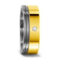 Fingerring Titan, 750/18 K Gelbgold Diamant 0.3 ct-541177