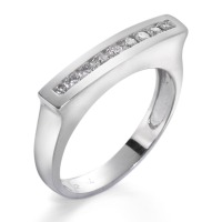 Fingerring 750/18 K Weissgold Diamant 0.18 ct-541402