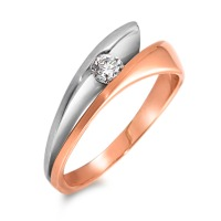 Bague Or rose 750/18 ct., Or blanc 750/18 ct. Diamant 0.15 ct-546450