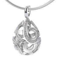 Pendentif Or blanc 750/18 ct. Diamant 0.30 ct-546468