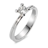 Bague solitaire Or blanc 750/18 ct. Diamant 0.35 ct-547838