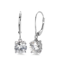 Pendant d'oreilles Or blanc 750/18 ct. Moissanite-551802