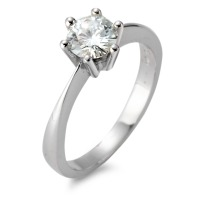 Bague solitaire Or blanc 750/18 ct. Moissanite-552276