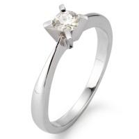 Bague solitaire Or blanc 750/18 ct. Moissanite-553694