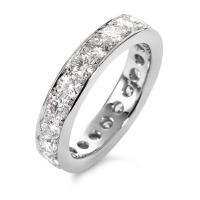 Bague memory Or blanc 750/18 ct. Diamant 2.22 ct-558196