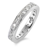 Bague memory Or blanc 750/18 ct. Diamant 1 ct-558197