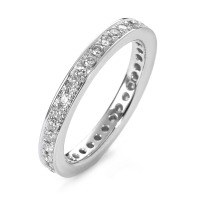 Bague memory Or blanc 750/18 ct. Diamant-558198