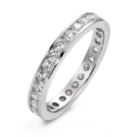 Bague memory Or blanc 750/18 ct. Diamant 1 ct-558208