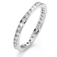 Memory Ring 750/18 K Weissgold Diamant 0.50 ct-558214