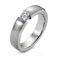 Bague solitaire Or blanc 750/18 ct. Diamant 0.25 ct-558218