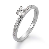 Bague solitaire Or blanc 750/18 ct. Diamant 0.40 ct-558229