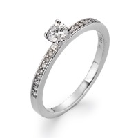 Bague solitaire Or blanc 750/18 ct. Diamant 0.30 ct