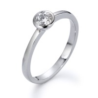 Bague solitaire Or blanc 750/18 ct. Diamant 0.25 ct-558243