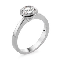 Bague solitaire Or blanc 750/18 ct. Diamant 0.75 ct-558246