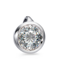 Pendentif Or blanc 750/18 ct. Diamant 0.33 ct Ø6 mm-558252