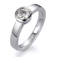 Bague solitaire Or blanc 750/18 ct. Diamant 0.50 ct-558270