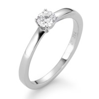 Bague solitaire Or blanc 750/18 ct. Diamant 0.25 ct-558295