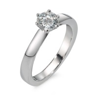 Bague solitaire Or blanc 750/18 ct. Diamant 0.75 ct-558325