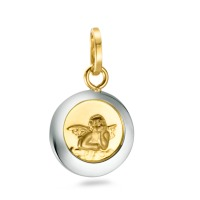 Pendentif Or jaune 750/18 ct., Or blanc 750/18 ct. Ø10 mm