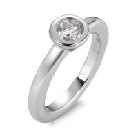 Bague solitaire Or blanc 750/18 ct. Diamant 0.30 ct rhodié-560537
