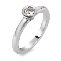 Bague solitaire Or blanc 750/18 ct. Diamant 0.20 ct rhodié-561389