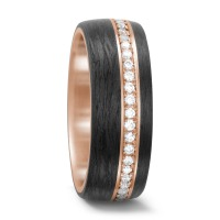 Bague d'amitié/Alliances Or rose 750/18 ct. Diamant-562409