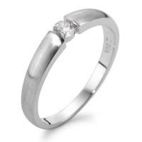 Bague solitaire Or blanc 750/18 ct. Diamant 0.15 ct-563004