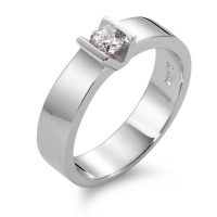 Bague solitaire Or blanc 750/18 ct. Diamant 0.20 ct-563308