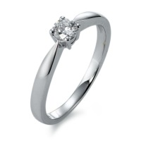 Bague solitaire Or blanc 750/18 ct. Diamant 0.25 ct-563749