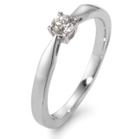 Bague solitaire Or blanc 750/18 ct. Diamant 0.15 ct-564560