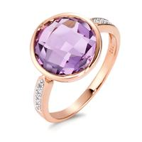 Fingerring 750/18 K Rotgold Amethyst 0.04 ct-565857