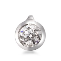 Pendentif Or blanc 750/18 ct. Diamant 0.33 ct Ø6 mm-566140