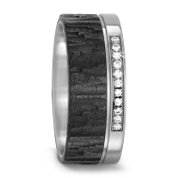 Bague d'amitié/Alliances Titane, Carbone Diamant 0.11 ct-567690
