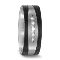 Bague d'amitié/Alliances Titane, Carbone Diamant 0.09 ct-567696
