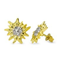 Clous d'oreilles Or jaune 375/9 ct. Ø12 mm-569298
