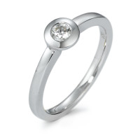Bague solitaire Or blanc 585/14 ct. Diamant 0.15 ct