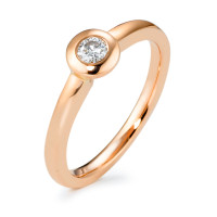 Solitär Ring 585/14 K Rosegold Diamant 0.15 ct-570590